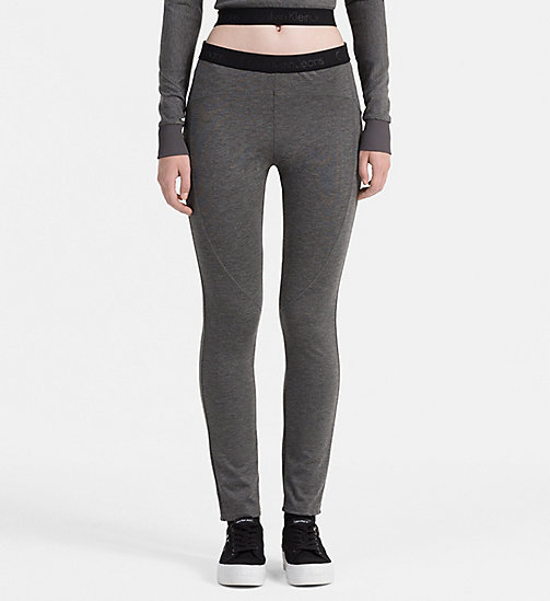 CALVIN KLEIN JEANS Milano Jersey Leggings - MID GREY HEATHER - CALVIN KLEIN JEANS CLOTHES - main image