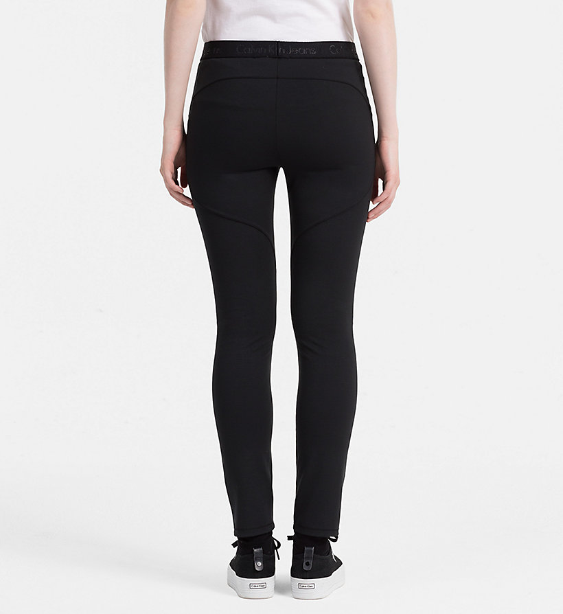 CALVIN KLEIN JEANS Milano Jersey Leggings - MID GREY HEATHER - CALVIN KLEIN JEANS TROUSERS - detail image 1
