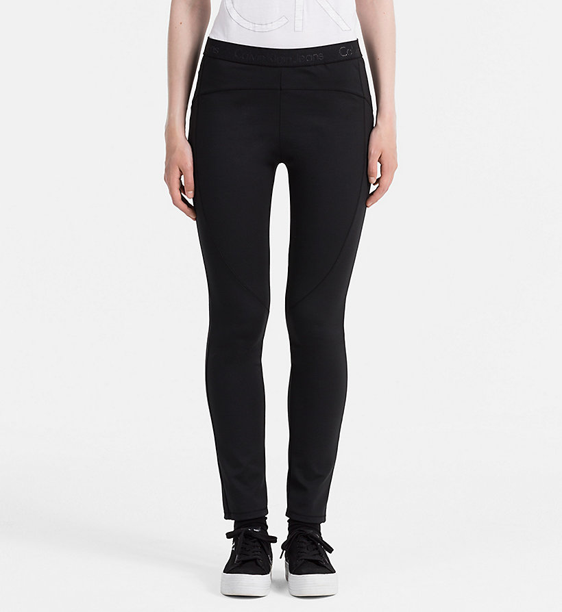 CALVIN KLEIN JEANS Milano Jersey Leggings - MID GREY HEATHER - CALVIN KLEIN JEANS TROUSERS - main image