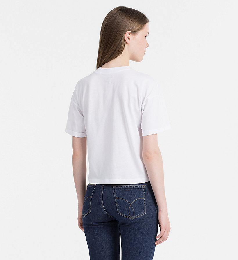 CALVIN KLEIN JEANS Cropped Logo T-shirt - FIG - CALVIN KLEIN JEANS T-SHIRTS - detail image 2