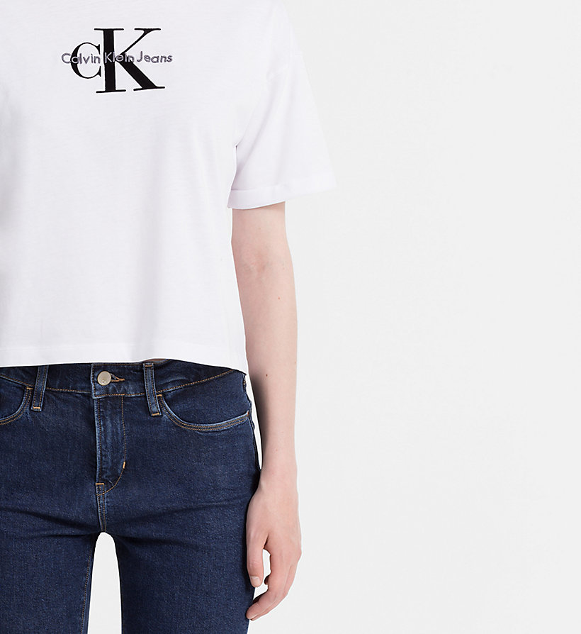 CALVIN KLEIN JEANS Cropped Logo T-shirt - FIG - CALVIN KLEIN JEANS T-SHIRTS - detail image 3