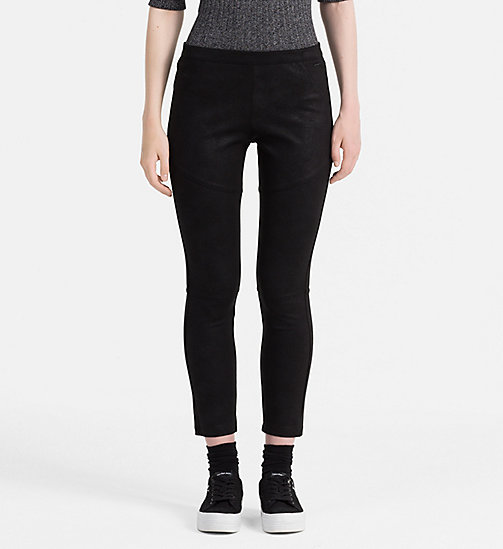 CALVIN KLEIN JEANS Coated Jersey Trousers - CK BLACK - CALVIN KLEIN JEANS CLOTHES - main image