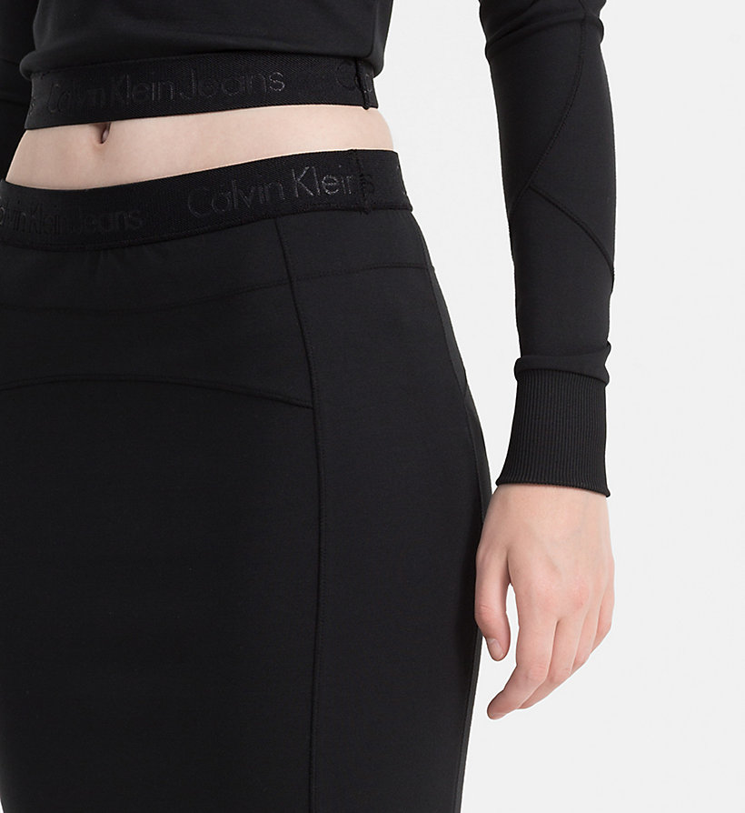 CALVIN KLEIN JEANS Jersey Tube Skirt - MID GREY HEATHER - CALVIN KLEIN JEANS SKIRTS - detail image 2
