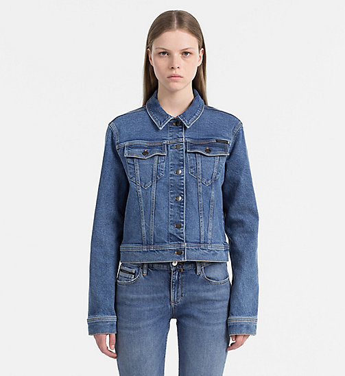 CALVIN KLEIN JEANS Denim Trucker Jacket - STARK BLUE -  #MYCALVINS WOMEN - main image