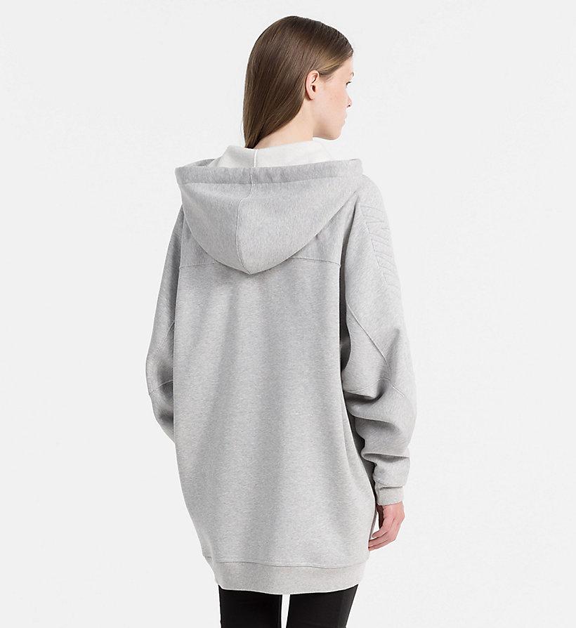 zip through logo hoodie calvin klein j20j206221. Black Bedroom Furniture Sets. Home Design Ideas