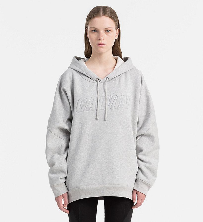 oversized logo hoodie calvin klein j20j206223. Black Bedroom Furniture Sets. Home Design Ideas