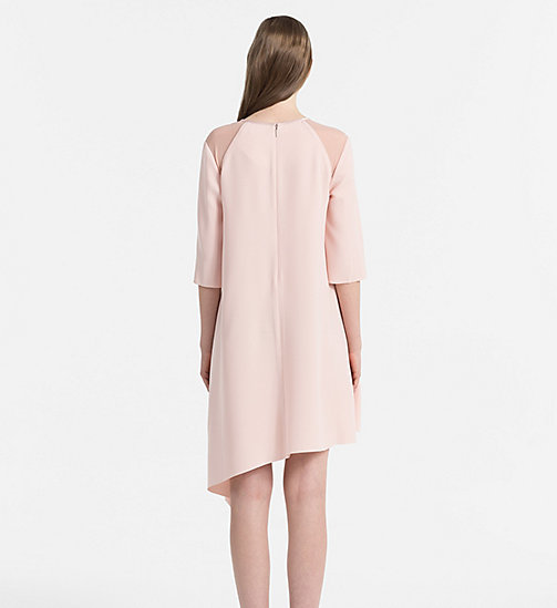 CALVIN KLEIN JEANS Satin Asymmetric Dress - PEACHY KEEN - CALVIN KLEIN JEANS CLOTHES - detail image 1
