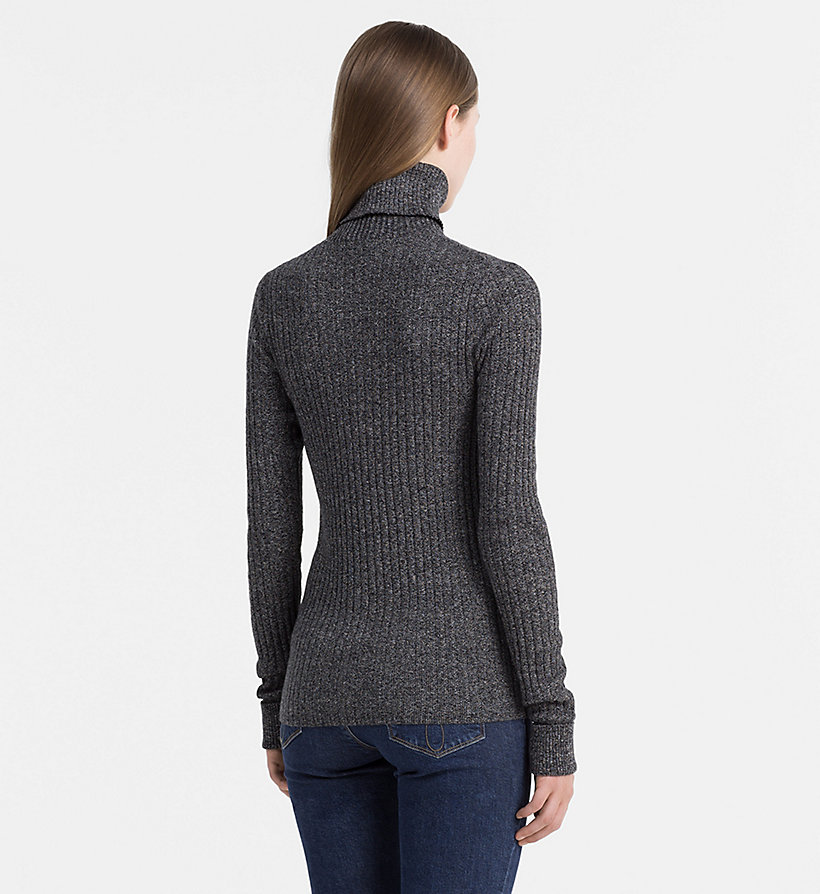 CALVIN KLEIN JEANS Cotton Silk Roll Neck Sweater - FIG - CALVIN KLEIN JEANS JUMPERS - detail image 2
