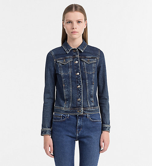 CALVIN KLEIN JEANS Giacca camionista in jeans - BROWNSVILLE BLUE - CALVIN KLEIN JEANS #MYCALVINS WOMEN - immagine principale