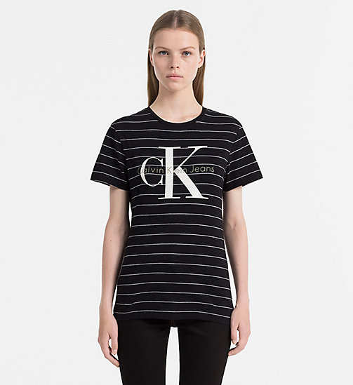 CALVIN KLEIN JEANS Organic Cotton Logo T-shirt - CK BLACK / BRIGHT WHITE - CALVIN KLEIN JEANS CLOTHES - main image