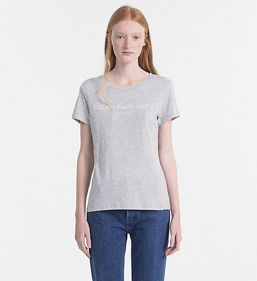 CALVIN KLEIN JEANS Logo-T-Shirt - LIGHT GREY HEATHER -  NEW IN - main image