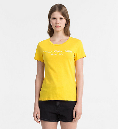 CALVIN KLEIN JEANS Logo T-shirt - SPECTRA YELLOW - CALVIN KLEIN JEANS NEW IN - main image