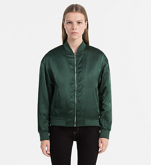 CALVIN KLEIN JEANS Padded Bomber Jacket - TREKKING GREEN - CALVIN KLEIN JEANS CLOTHES - main image
