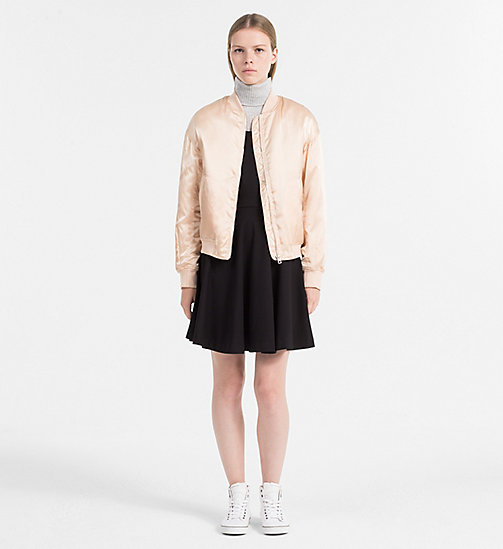 CALVIN KLEIN JEANS Padded Bomber Jacket - CREAM TAN - CALVIN KLEIN JEANS CLOTHES - detail image 1