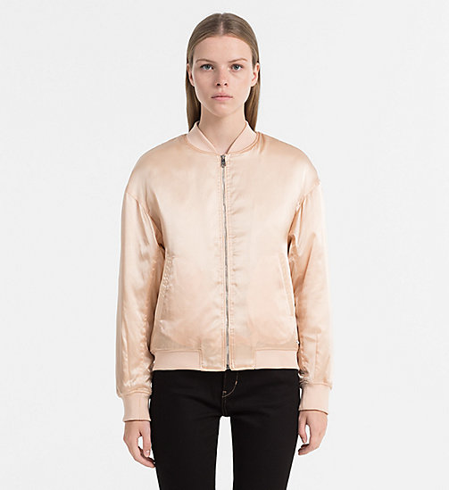 CALVIN KLEIN JEANS Padded Bomber Jacket - CREAM TAN - CALVIN KLEIN JEANS CLOTHES - main image