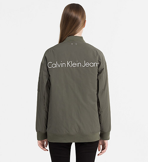 CALVIN KLEIN JEANS Padded Logo Bomber Jacket - DUSTY OLIVE - CALVIN KLEIN JEANS CLOTHES - detail image 1