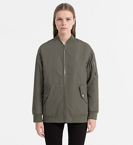 CALVIN KLEIN JEANS Padded Logo Bomber Jacket - DUSTY OLIVE - CALVIN KLEIN JEANS CLOTHES - main image