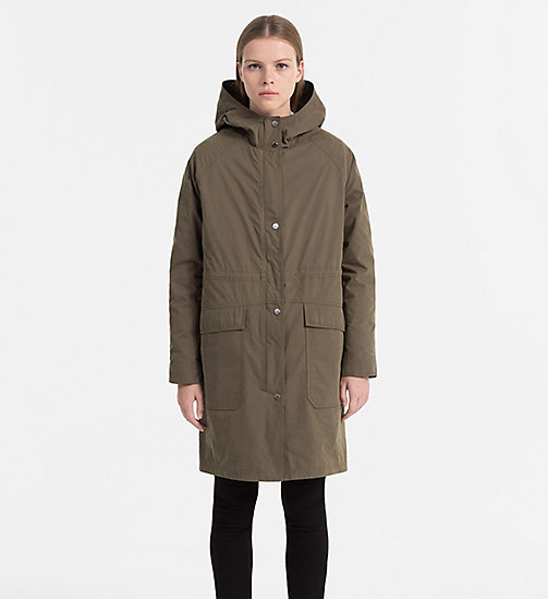 CALVIN KLEIN JEANS 2-in-1 Parka with Down Puffer - DUSTY OLIVE - CALVIN KLEIN JEANS COATS & JACKETS - main image