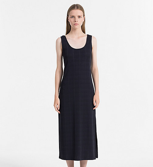 CALVIN KLEIN JEANS Rib Jersey Maxi Dress - CK BLACK - CALVIN KLEIN JEANS DRESSES & SKIRTS - main image