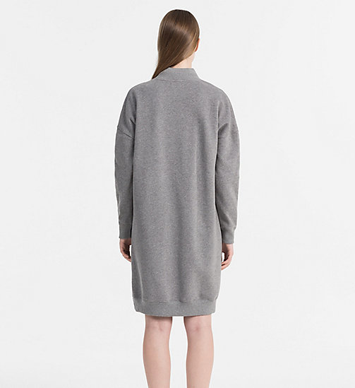 CALVIN KLEIN JEANS Logo Sweater Dress - MID GREY HEATHER - CALVIN KLEIN JEANS DRESSES & SKIRTS - detail image 1