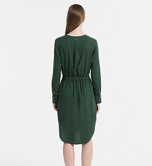 CALVIN KLEIN JEANS Shirt Dress - TREKKING GREEN - CALVIN KLEIN JEANS DRESSES & SKIRTS - detail image 1