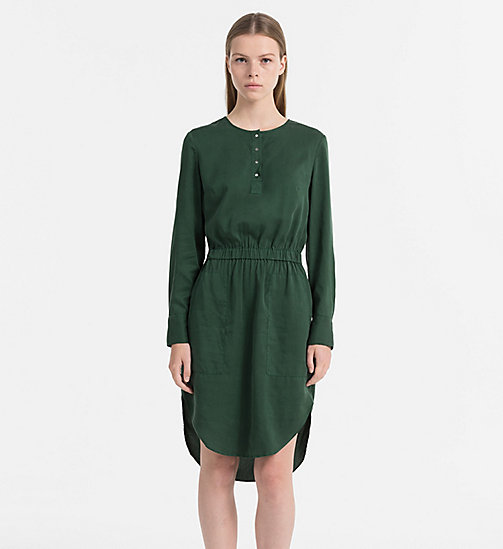 CALVIN KLEIN JEANS Shirt Dress - TREKKING GREEN - CALVIN KLEIN JEANS DRESSES & SKIRTS - main image