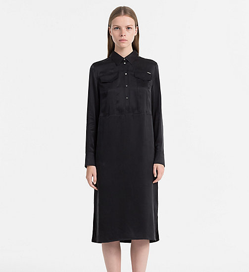 CALVIN KLEIN JEANS Silk Satin Dress - CK BLACK - CALVIN KLEIN JEANS DRESSES & SKIRTS - main image