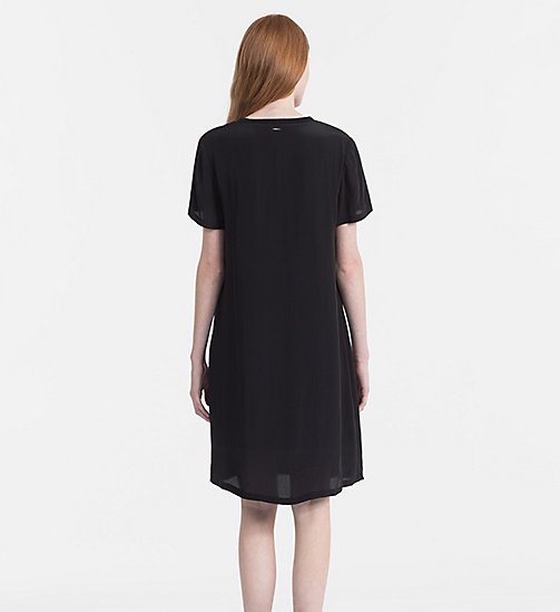 CALVIN KLEIN JEANS Crepe T-shirt Dress - CK BLACK - CALVIN KLEIN JEANS CLOTHES - detail image 1