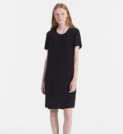 CALVIN KLEIN JEANS Crepe T-shirt Dress - CK BLACK - CALVIN KLEIN JEANS DRESSES & SKIRTS - main image
