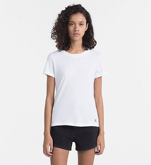 CALVIN KLEIN JEANS Basic T-Shirt - BRIGHT WHITE - CALVIN KLEIN JEANS NEW IN - main image