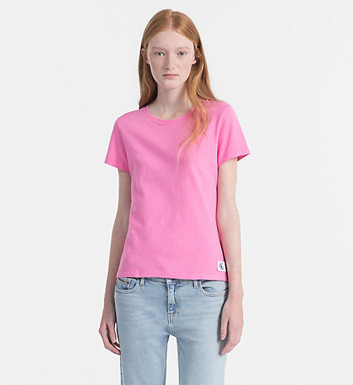 CALVIN KLEIN JEANS Basic T-Shirt - WILD ORCHID -  NEW IN - main image