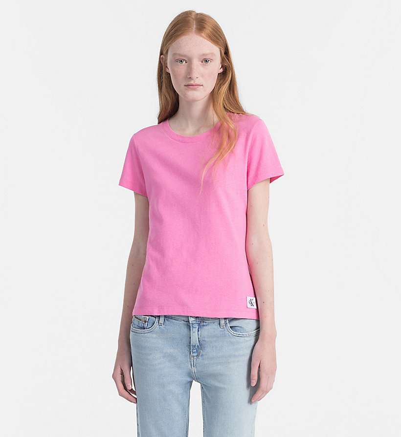 CALVIN KLEIN JEANS T-shirt Basic - CHAMBRAY BLUE - CALVIN KLEIN JEANS FEMMES - image principale