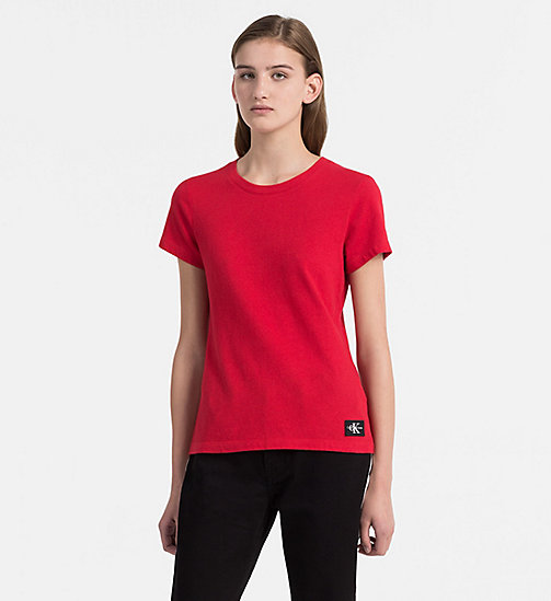 CALVIN KLEIN JEANS Basic T-Shirt - TANGO RED - CALVIN KLEIN JEANS NEW IN - main image