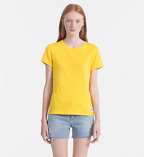 CALVIN KLEIN JEANS Basic T-shirt - SPECTRA YELLOW - CALVIN KLEIN JEANS NEW IN - main image