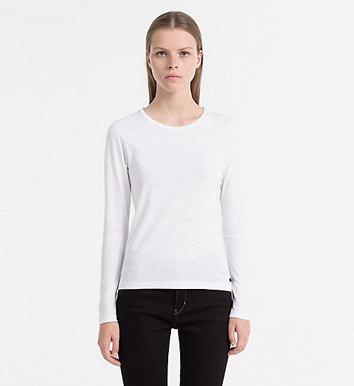 CALVIN KLEIN JEANS Langärmliges Basic-Top - BRIGHT WHITE - CALVIN KLEIN JEANS T-SHIRTS - main image