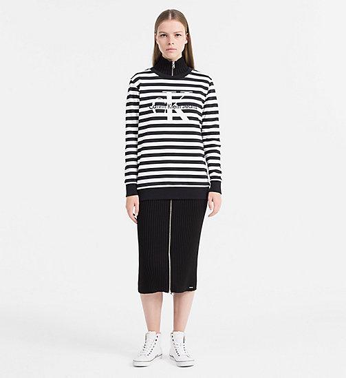 ... CALVIN KLEIN JEANS Sweat-shirt à rayures avec logo - CK BLACK / BRIGHT  WHITE