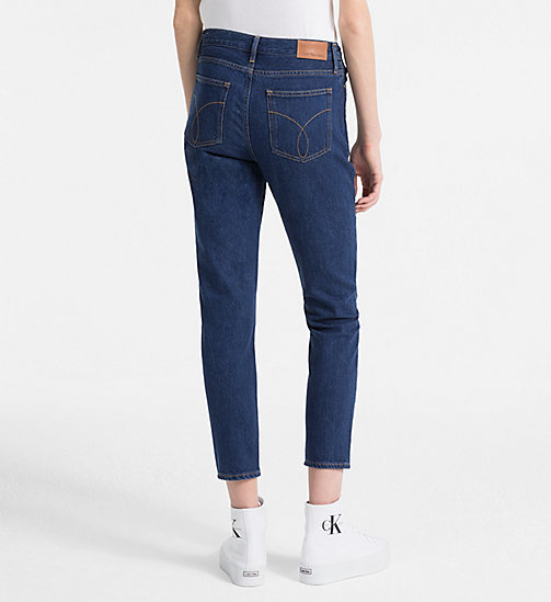 CALVIN KLEIN JEANS High Rise Slim Jeans - BROOK BLUE - CALVIN KLEIN JEANS CLOTHES - detail image 1
