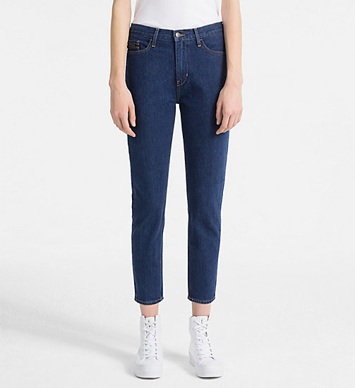 CALVIN KLEIN JEANS High Rise Slim Jeans - BROOK BLUE - CALVIN KLEIN JEANS CLOTHES - main image