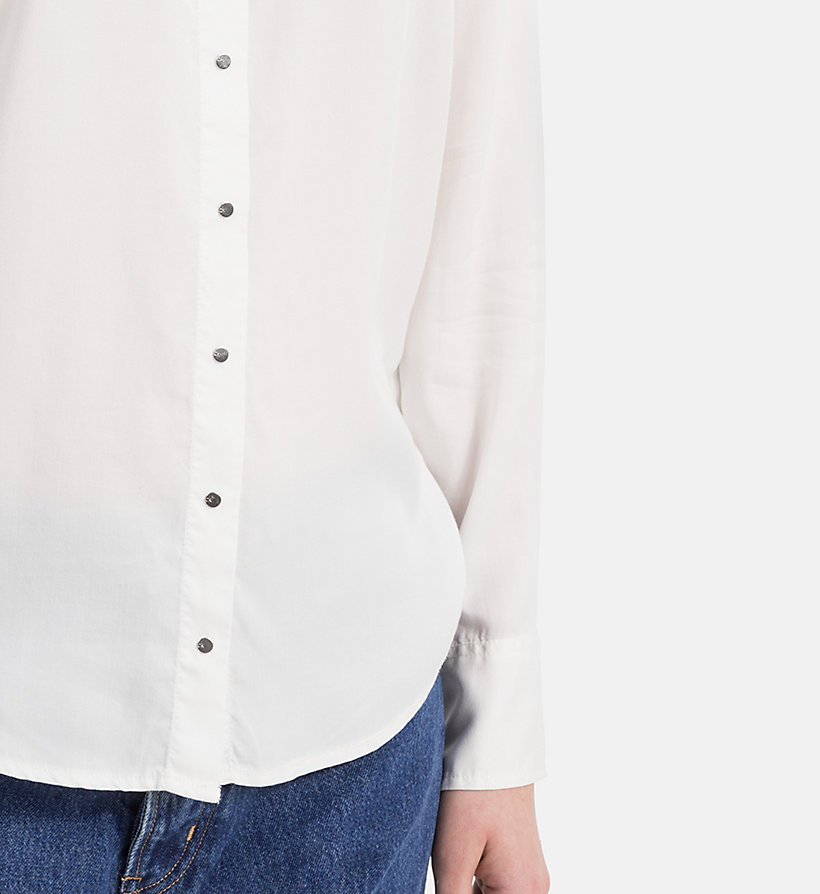 CALVIN KLEIN JEANS Regular Tencel Shirt - CREAM TAN - CALVIN KLEIN JEANS WOMEN - detail image 2