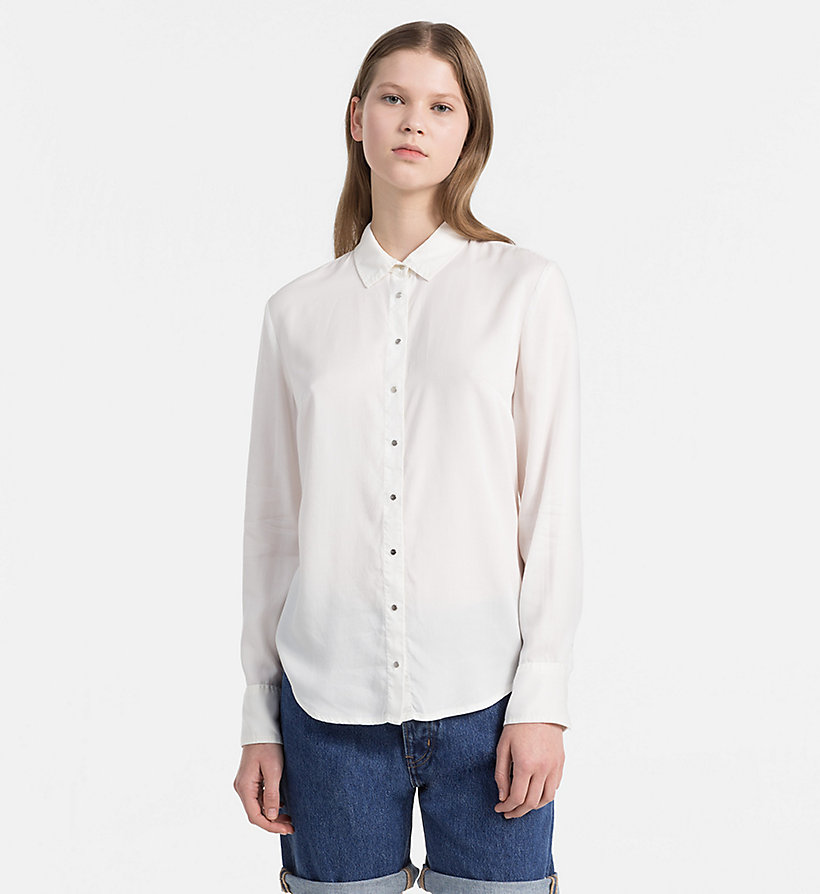 CALVIN KLEIN JEANS Regular Tencel Shirt - CREAM TAN - CALVIN KLEIN JEANS WOMEN - main image