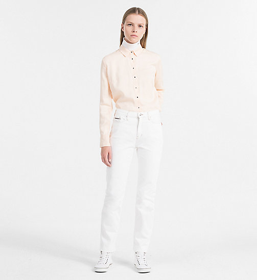 CALVIN KLEIN JEANS Tencel-Shirt - CREAM TAN -  CLOTHES - main image 1