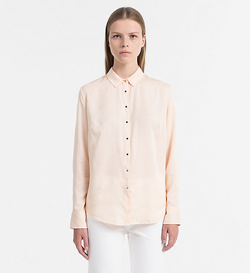 CALVIN KLEIN JEANS Regular Tencel Shirt - CREAM TAN - CALVIN KLEIN JEANS SHIRTS - main image