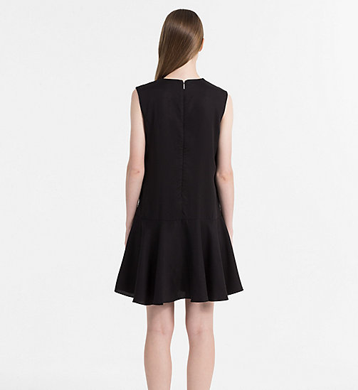 CALVIN KLEIN JEANS Sleeveless Skater Dress - CK BLACK - CALVIN KLEIN JEANS DRESSES & SKIRTS - detail image 1