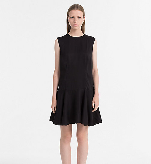 CALVIN KLEIN JEANS Sleeveless Skater Dress - CK BLACK - CALVIN KLEIN JEANS CLOTHES - main image