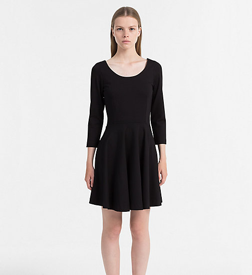 CALVIN KLEIN JEANS Milano Jersey Dress - CK BLACK - CALVIN KLEIN JEANS DRESSES & SKIRTS - main image