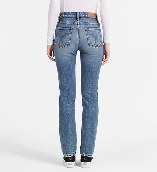CALVIN KLEIN JEANS High Rise Straight Jeans - COOPER BLUE - CALVIN KLEIN JEANS CLOTHES - detail image 1