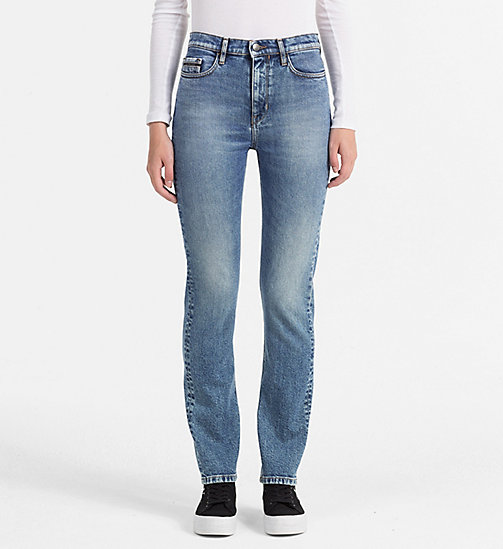 CALVIN KLEIN JEANS High Rise Straight Jeans - COOPER BLUE - CALVIN KLEIN JEANS CLOTHES - main image