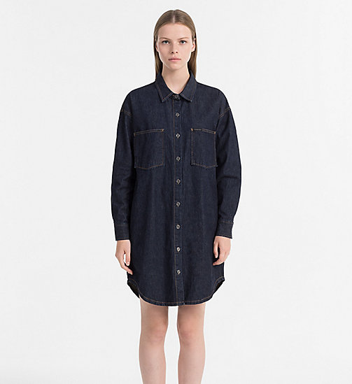 CALVIN KLEIN JEANS Denim Shirt Dress - NAIL BLUE - CALVIN KLEIN JEANS DRESSES & SKIRTS - main image