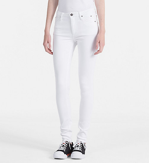 CALVIN KLEIN JEANS Sculpted Skinny Jeans - GREAT WHITE STR - CALVIN KLEIN JEANS NEW IN - main image