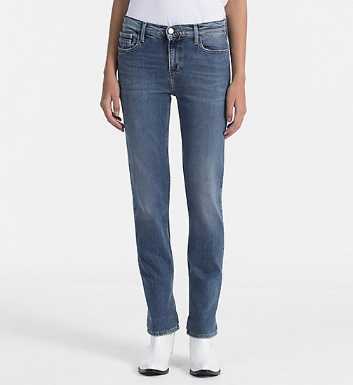 CALVIN KLEIN JEANS Mid Rise Straight Jeans - KEANU BLUE STR - CALVIN KLEIN JEANS NEW IN - main image